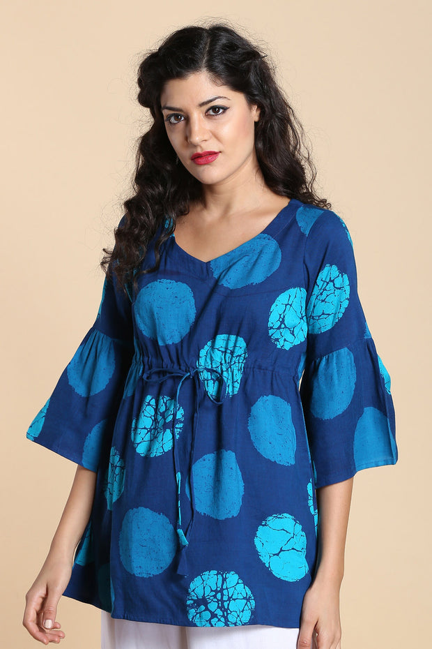 Blended Cotton Top in Blue