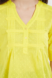 Blended Cotton Top in Yellow