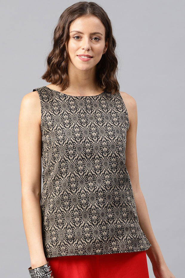 Chanderi Top in Beige