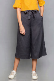 Blended Cotton Culottes in Grey