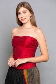 Brocade Corset in Red