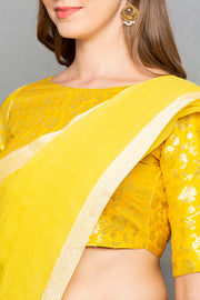 Brocade Saree in Yellow