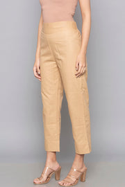 Blended Cotton Trouser in Beige