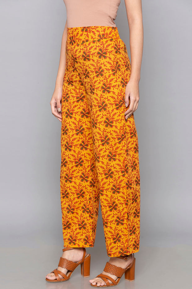 Blended Cotton Trouser in Multicolor