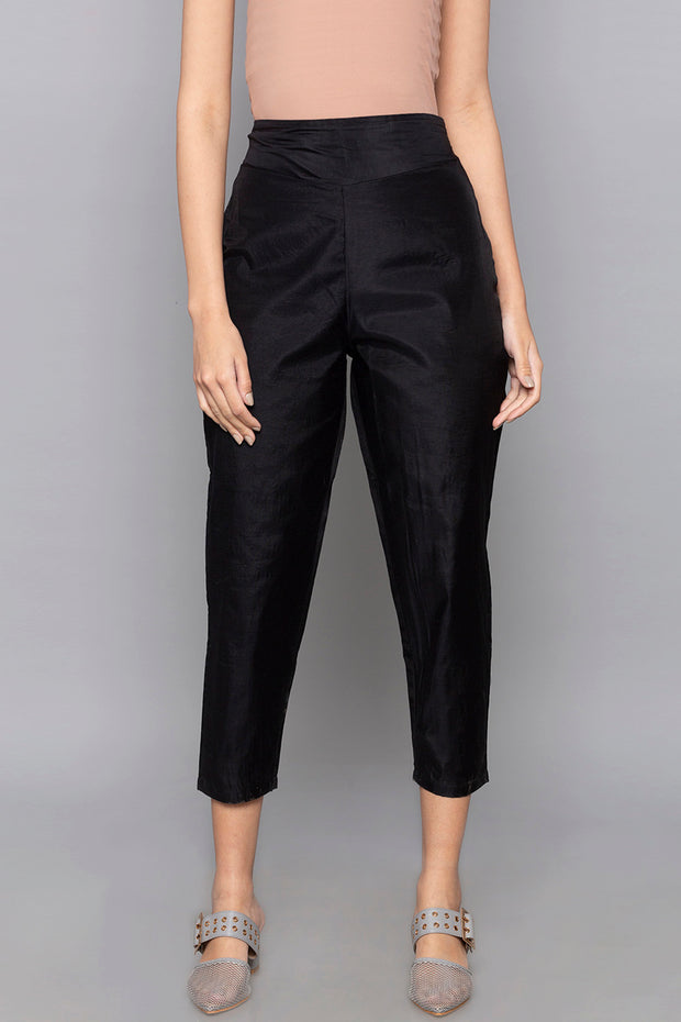 Art Silk Trouser in Black