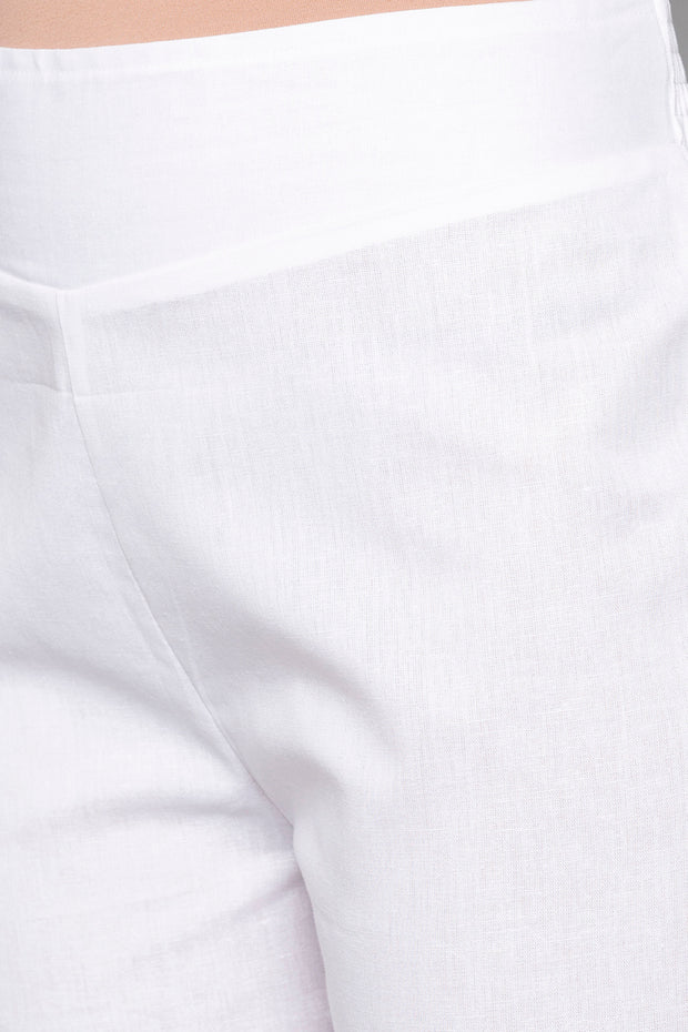 Art Silk Trouser in White