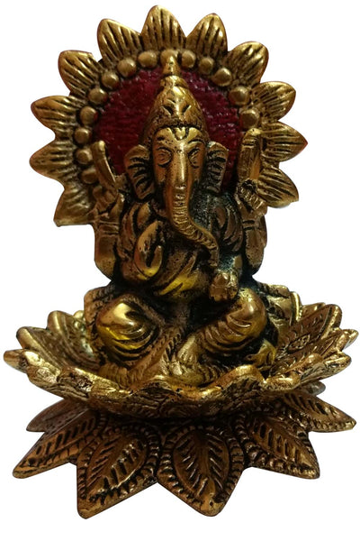Metal Ganesha Statue in Gold