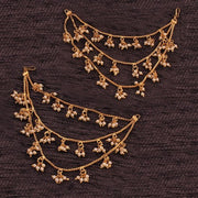 I Jewels Alloy Hair Chain Accessories for Earrings in Gold