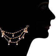 Alloy Hair Chain Accessories for Earrings in Gold