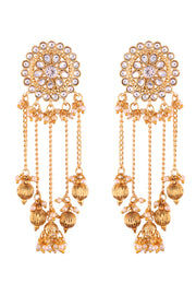 Alloy Jhumka Earring in White