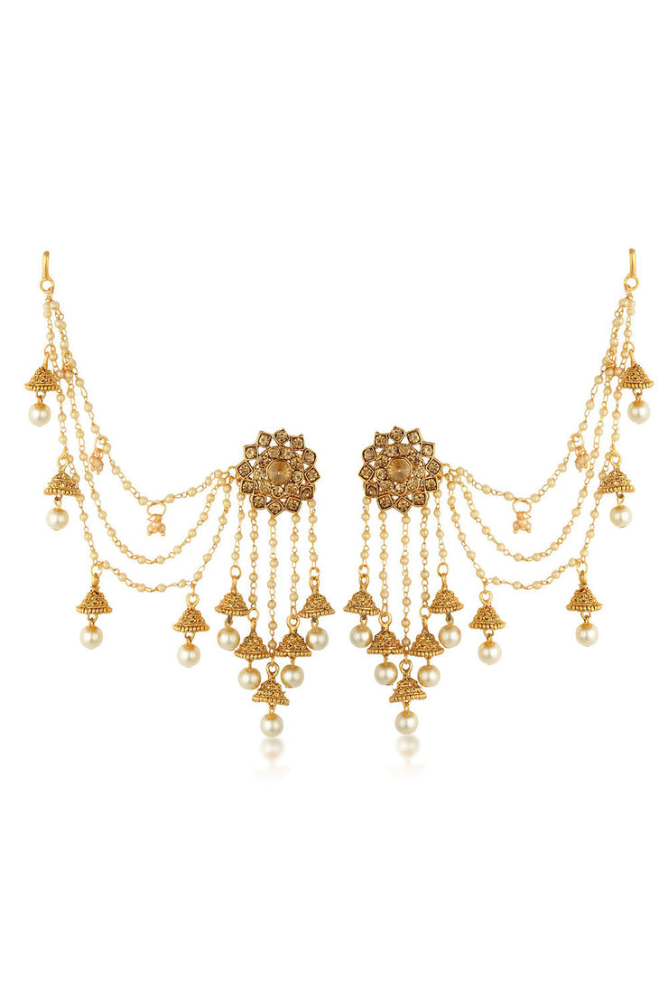 Alloy Jhumka Earring in Gold