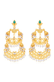 Women's Alloy Chandelier Earrings in Gold