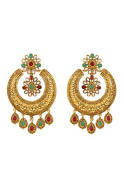 Zinc Chandbali Earring in Gold