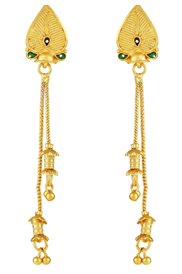 Zinc Large Dangle Earring in Gold