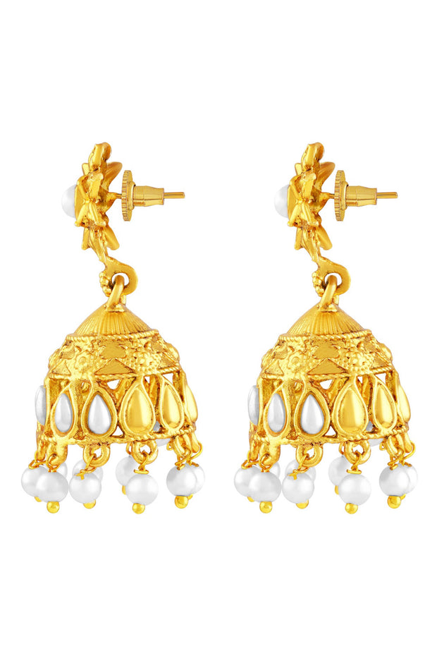 Zinc Jhumka Earring in Gold