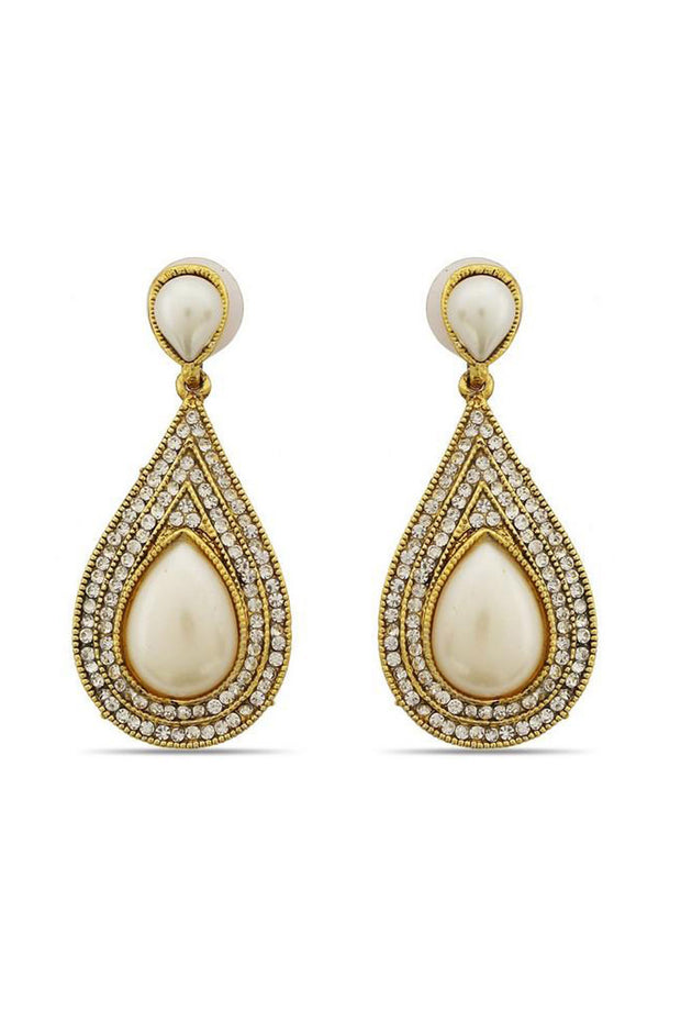 Shop  Alloys Earring For Women's  in White At KarmaPlace