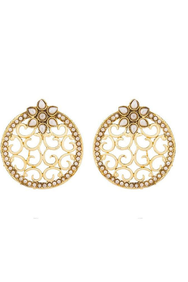 Shop  Alloys Earring For Women's  in Gold At KarmaPlace