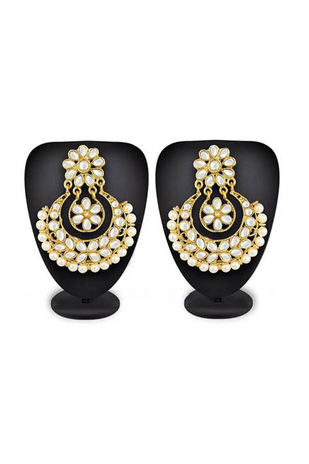 Shop  Alloys Earring For Women's in White and Gold At KarmaPlace
