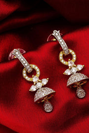 Buy Women's Alloy Large Dangle Earrings in Silver and Gold Online