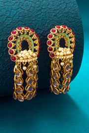 Buy Women's Alloy Jumka Earrings in Gold Online