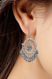 Alloy Chandbali Earring in Silver