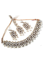 Buy Women's Alloy Necklace Set in White