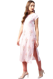 Crepe Digital Print Kurta in Pink