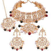 I Jewels Women's Alloy Choker Necklace Set