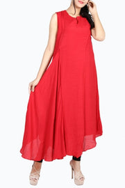 Blended Cotton Kurti in Red