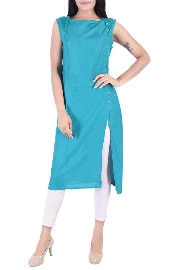 Rayon Kurti Set in Blue