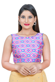 Jacquard Padded Blouse in Pink