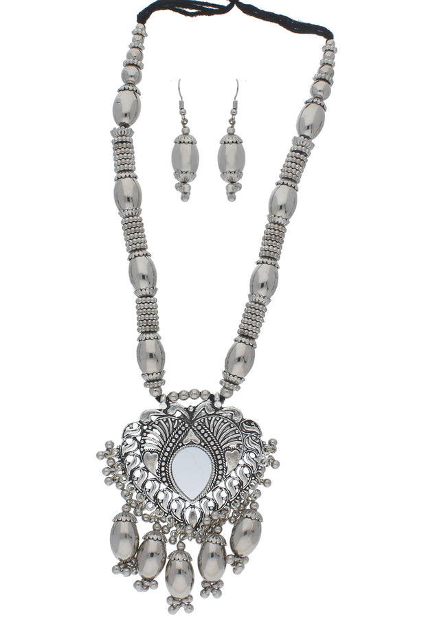 Alloy Necklace Set in Silver