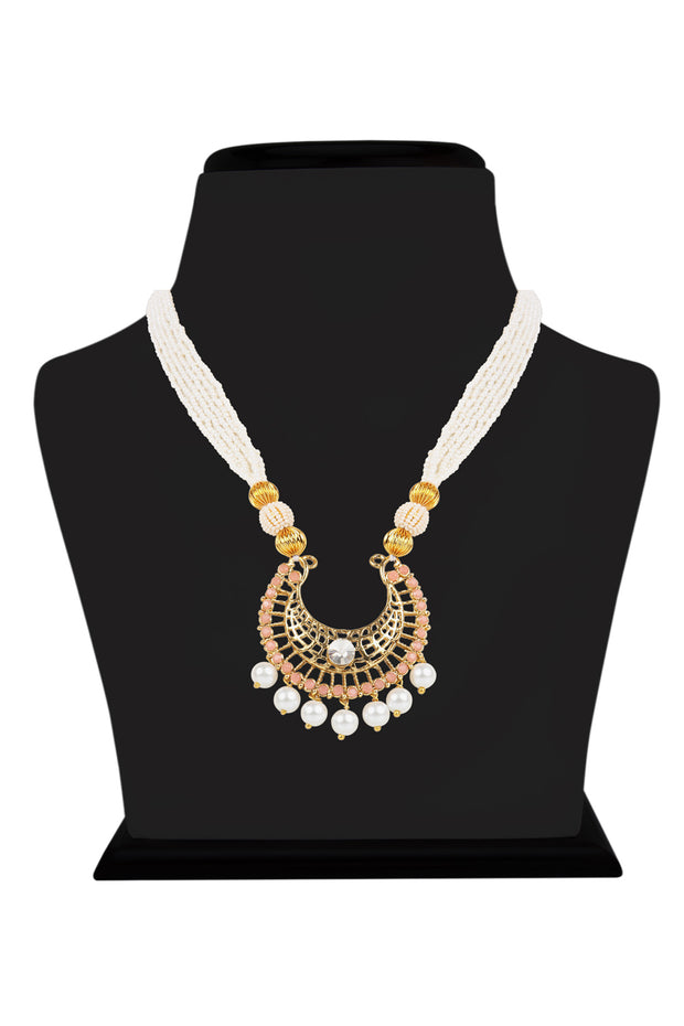 Alloy Necklace Set in White