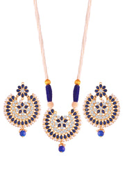 Alloy Necklace Set in Blue