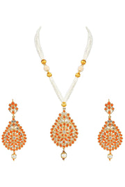 Alloy Necklace Set in Orange
