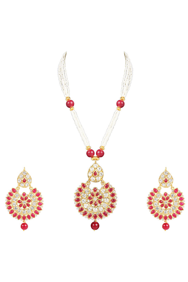 Alloy Necklace Set in Red