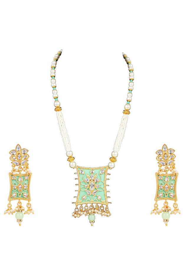 Alloy Necklace Set in Green