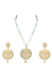 Alloy Necklace Set in Turquoise