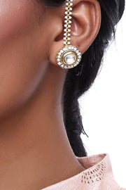 Alloy Studs and Non-Dangling Earrings in Gold