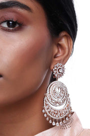 Alloy Large Dangle Earrings in Rose Gold