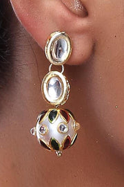 Alloy Large Dangle Earrings in Gold