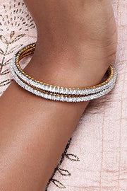 Alloy Bangles in Diamond