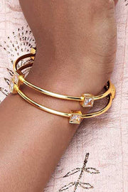 Alloy Bangles in Gold