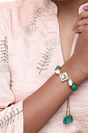 Alloy Bracelet in Green