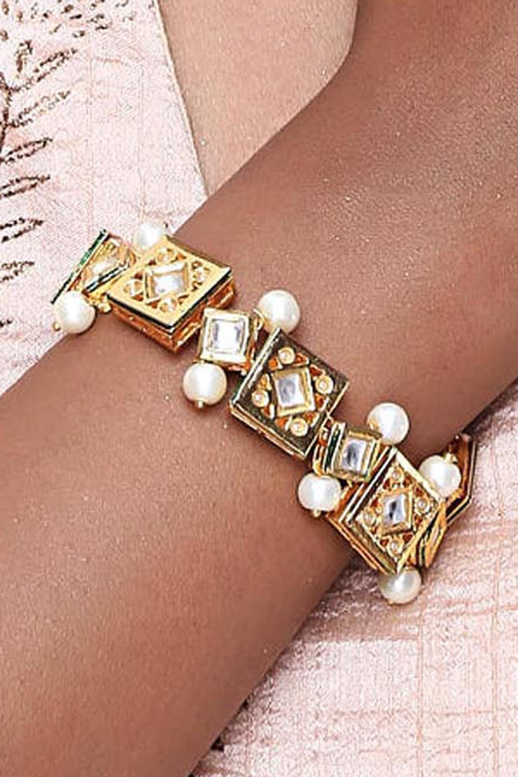 Alloy Bracelet in Off White