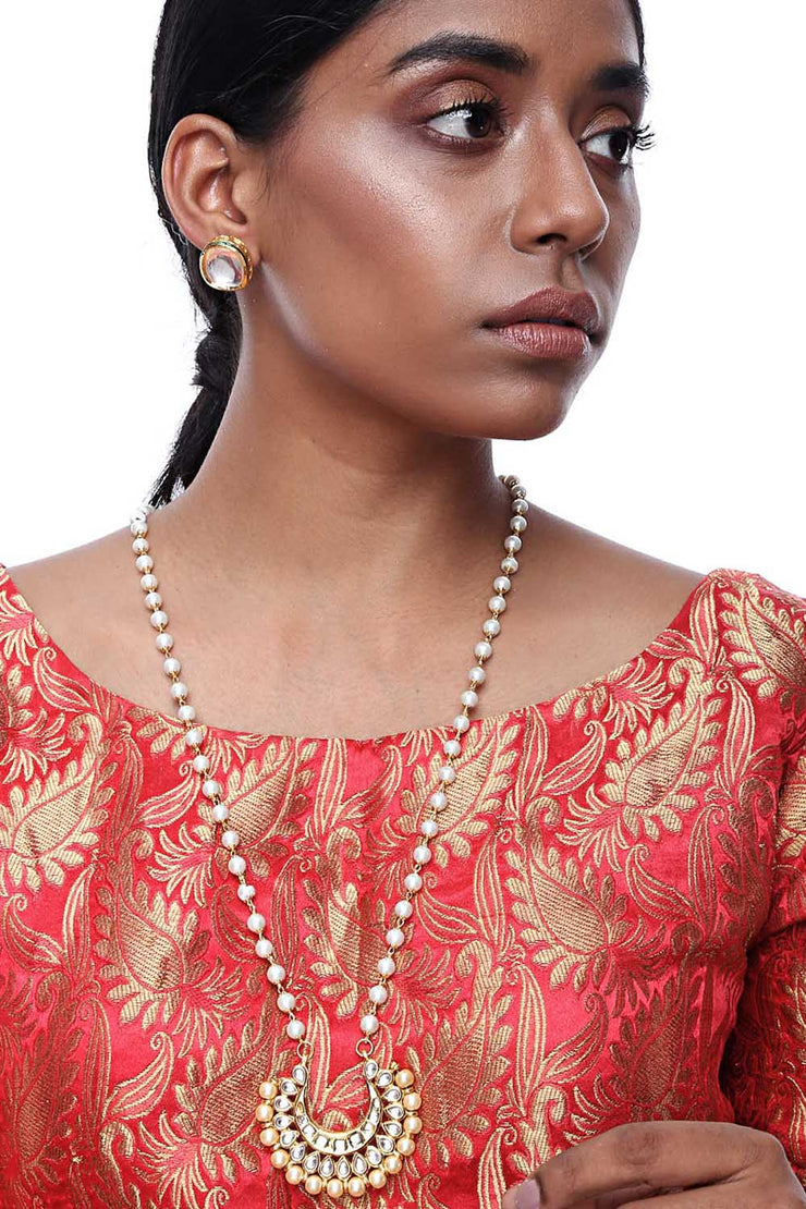 Alloy Necklace and Earring Sets in Gold