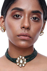 Alloy Necklace and Earring Sets in Green