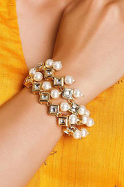 Women's Alloy Bracelets in White