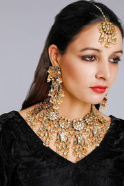 Women's Alloy Ethnic Wedding Necklaces in White
