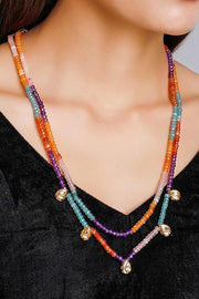Women's Alloy Bead Necklaces in Blue